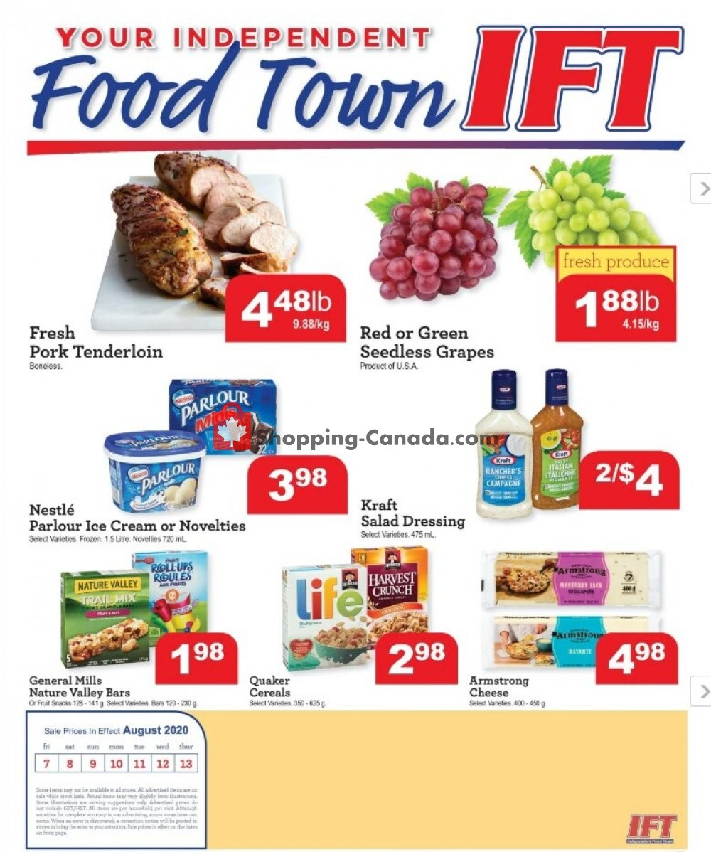 Flyer Chesley Grocery Store Canada - from Friday August 7, 2020 to Thursday August 13, 2020