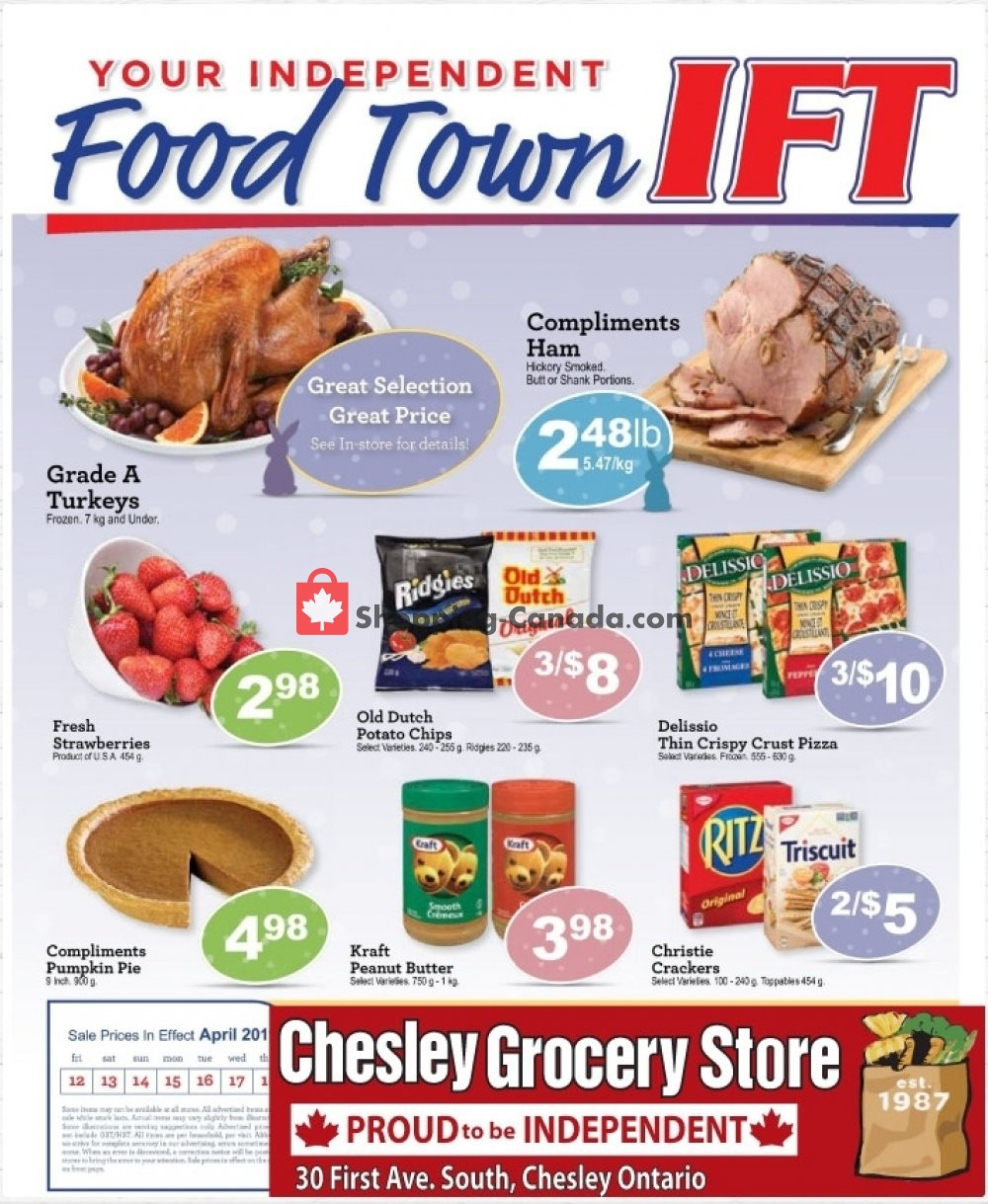 Flyer Chesley Grocery Store Canada - from Friday April 12, 2019 to Thursday April 18, 2019