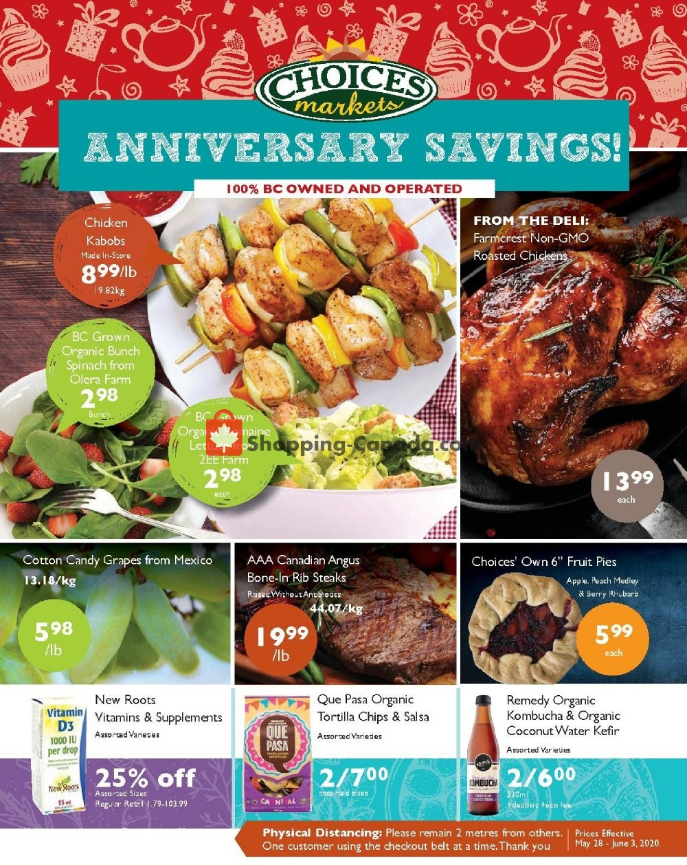 Flyer Choices Market Canada - from Thursday May 28, 2020 to Wednesday June 3, 2020