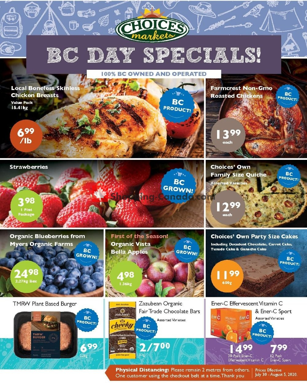 Flyer Choices Market Canada - from Thursday July 30, 2020 to Wednesday August 5, 2020