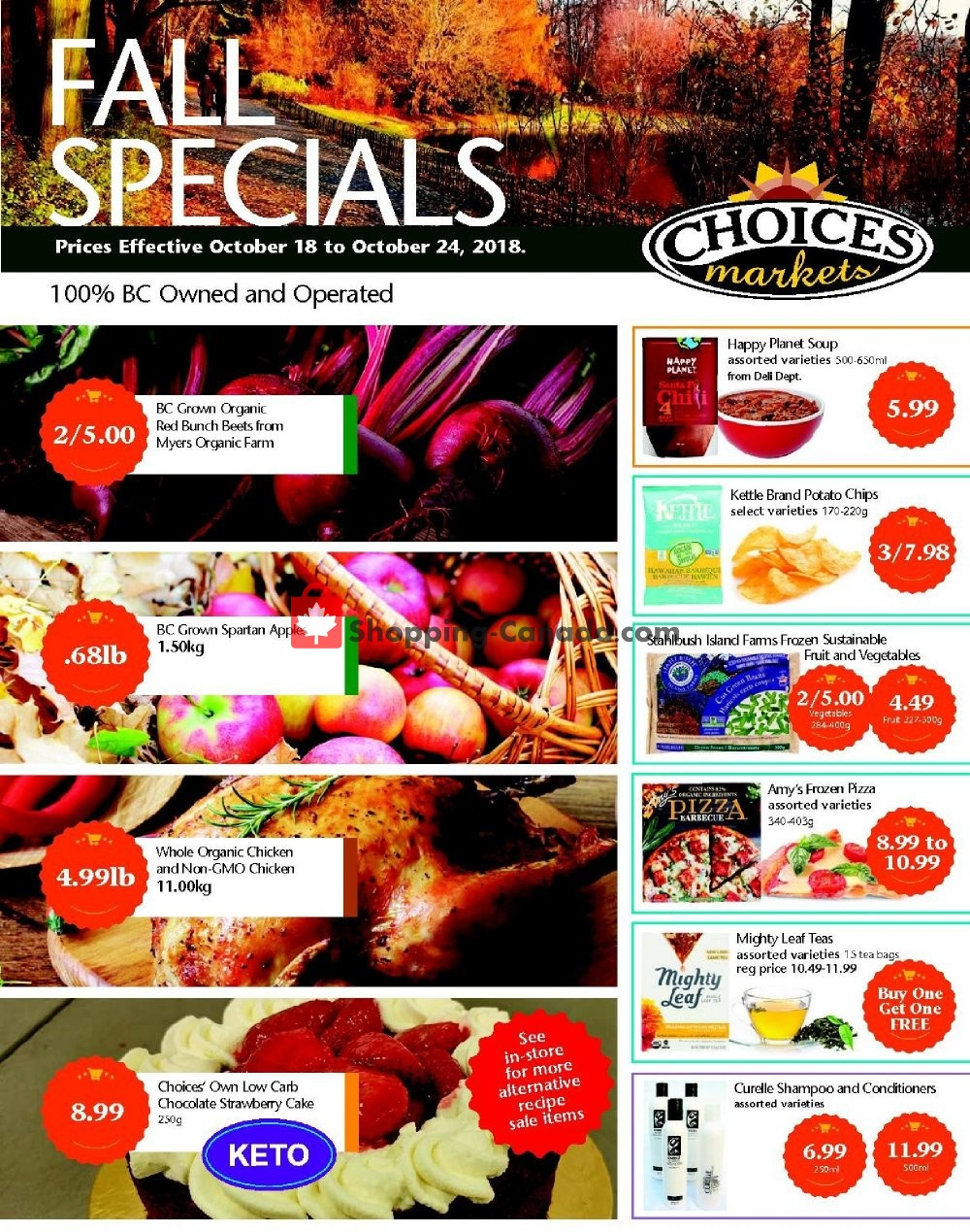 Flyer Choices Market Canada - from Thursday October 18, 2018 to Wednesday October 24, 2018