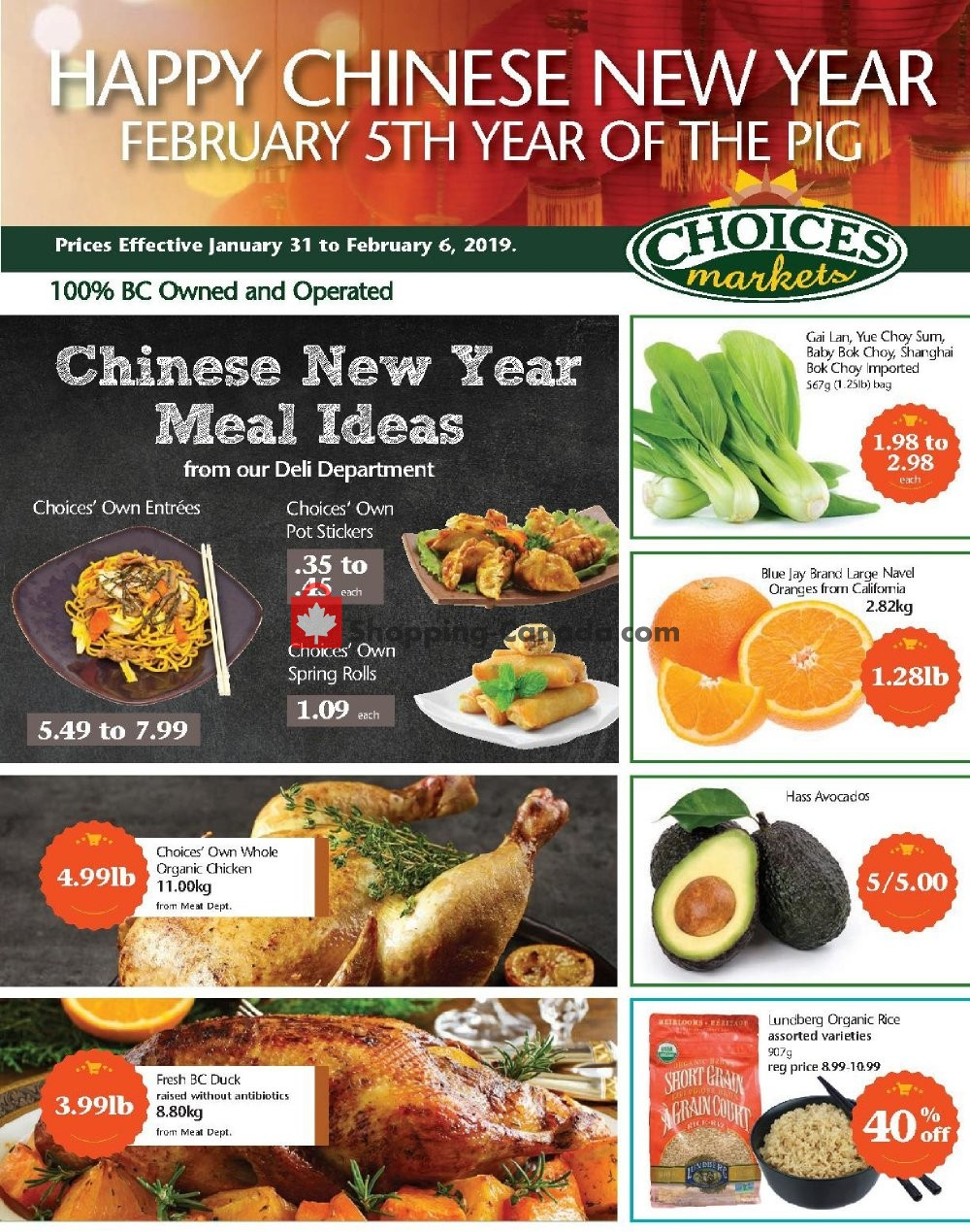 Flyer Choices Market Canada - from Thursday January 31, 2019 to Wednesday February 6, 2019