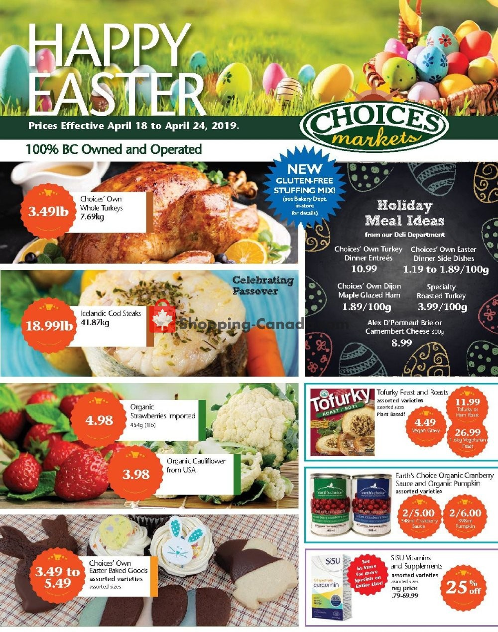 Flyer Choices Market Canada - from Thursday April 18, 2019 to Wednesday April 24, 2019