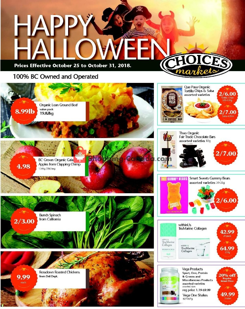 Flyer Choices Market Canada - from Thursday October 25, 2018 to Wednesday October 31, 2018