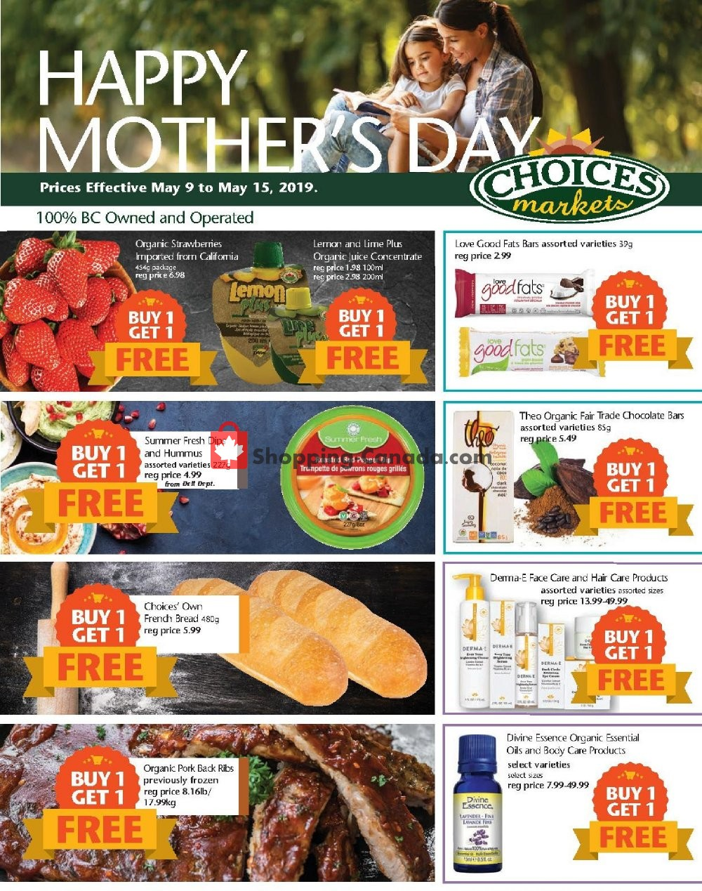 Flyer Choices Market Canada - from Thursday May 9, 2019 to Wednesday May 15, 2019