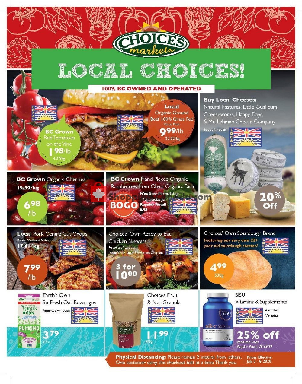 Flyer Choices Market Canada - from Thursday July 2, 2020 to Wednesday July 8, 2020
