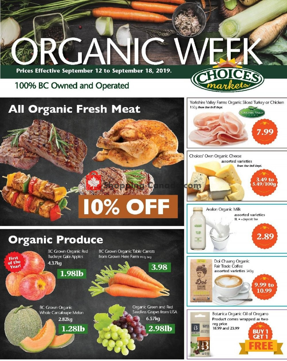 Flyer Choices Market Canada - from Thursday September 12, 2019 to Wednesday September 18, 2019