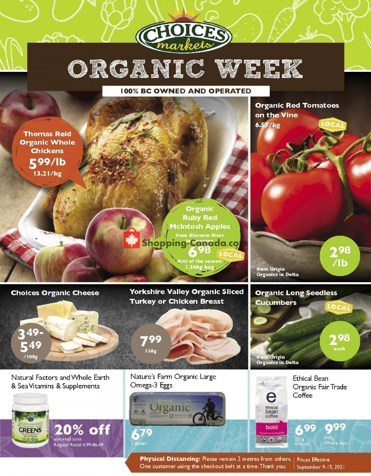 Flyer Choices Market Canada - from Thursday September 9, 2021 to Wednesday September 15, 2021