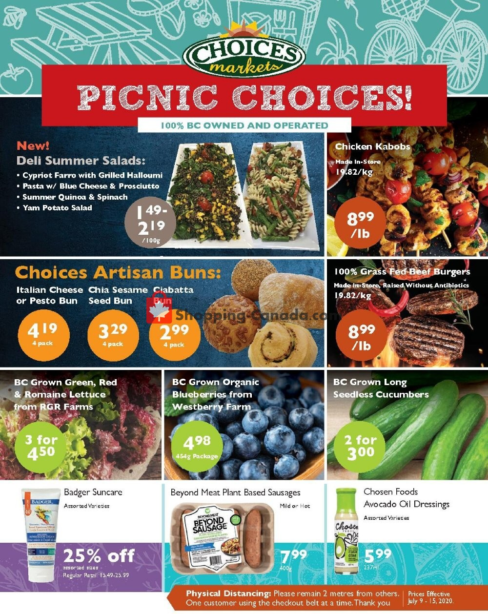 Flyer Choices Market Canada - from Thursday July 9, 2020 to Wednesday July 15, 2020