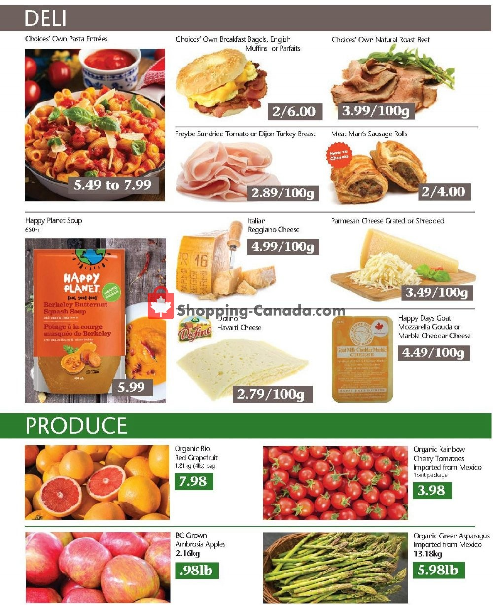 Flyer Choices Market Canada - from Thursday November 7, 2019 to Wednesday November 13, 2019