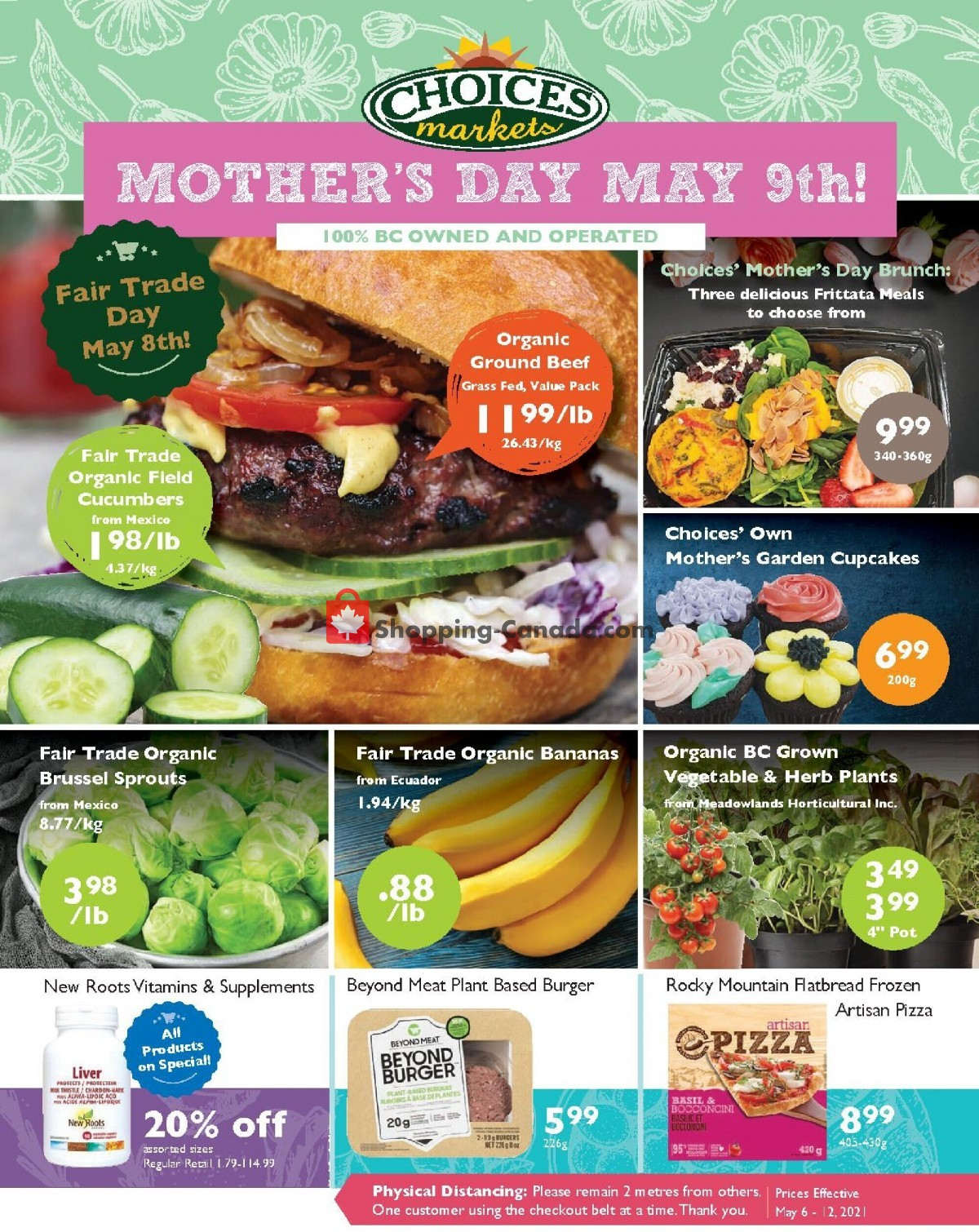 Flyer Choices Market Canada - from Thursday May 6, 2021 to Wednesday May 12, 2021