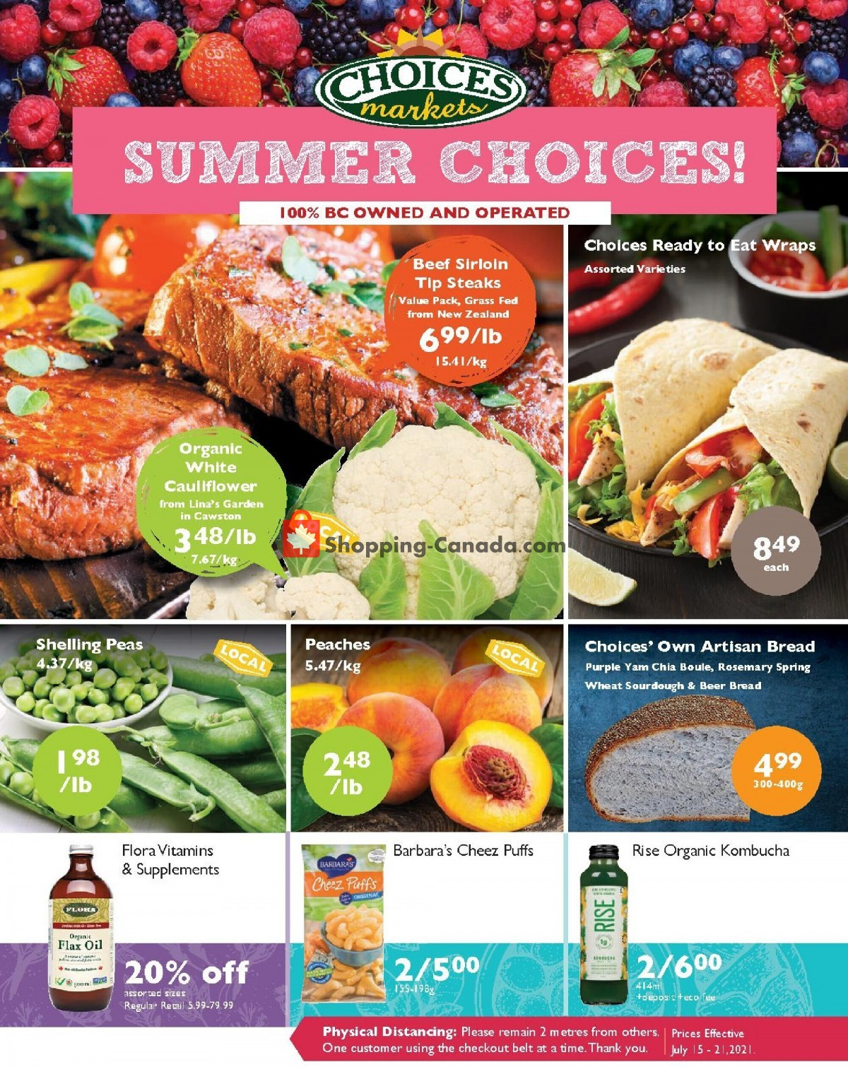Flyer Choices Market Canada - from Thursday July 15, 2021 to Wednesday July 21, 2021