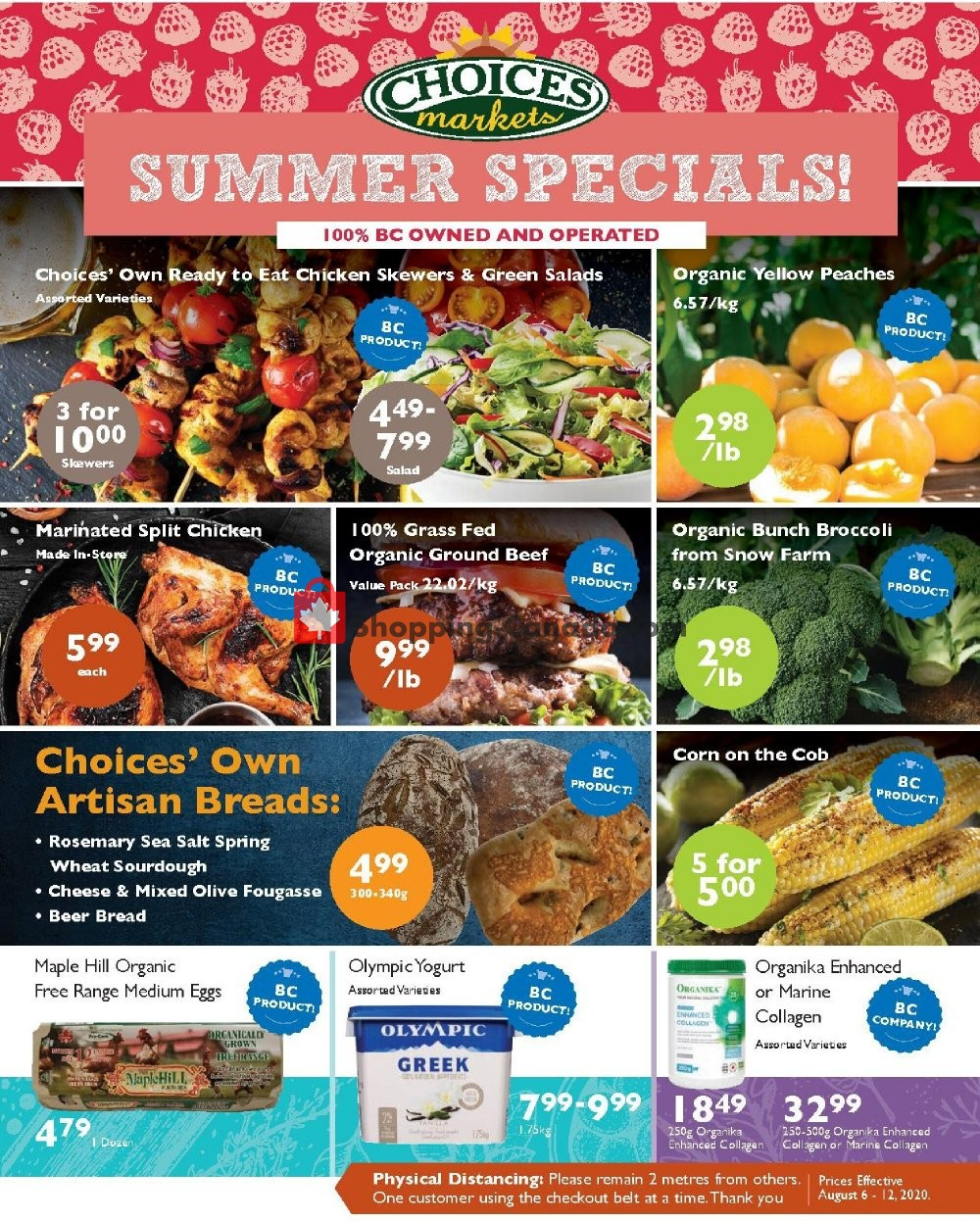 Flyer Choices Market Canada - from Thursday August 6, 2020 to Wednesday August 12, 2020