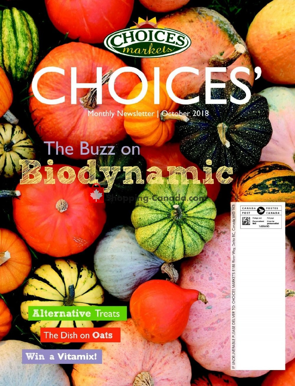Flyer Choices Market Canada - from Monday October 1, 2018 to Wednesday October 31, 2018