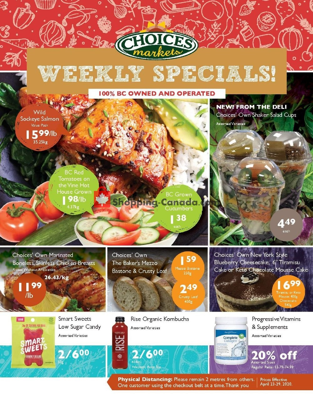 Flyer Choices Market Canada - from Thursday April 23, 2020 to Wednesday April 29, 2020