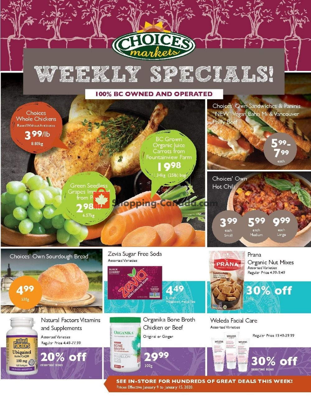 Flyer Choices Market Canada - from Thursday January 9, 2020 to Wednesday January 15, 2020