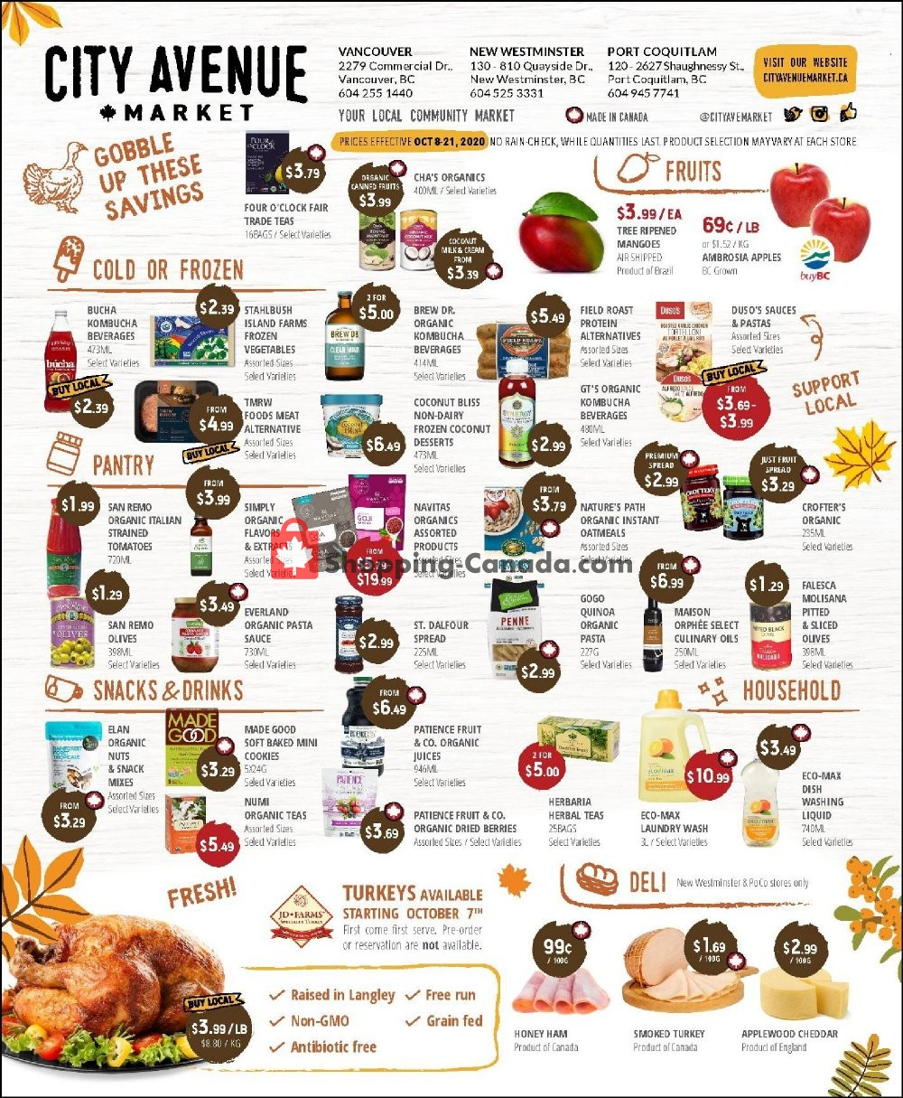Flyer City Avenue Market Canada - from Thursday October 8, 2020 to Wednesday October 21, 2020