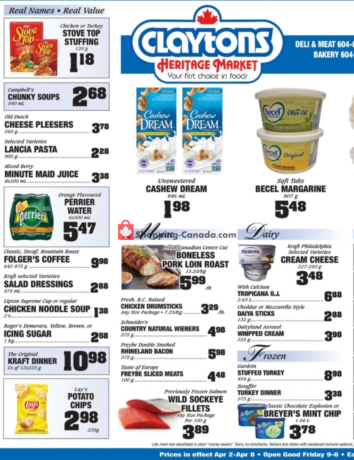 Flyer Claytons Heritage Market Canada - from Friday April 2, 2021 to Thursday April 8, 2021
