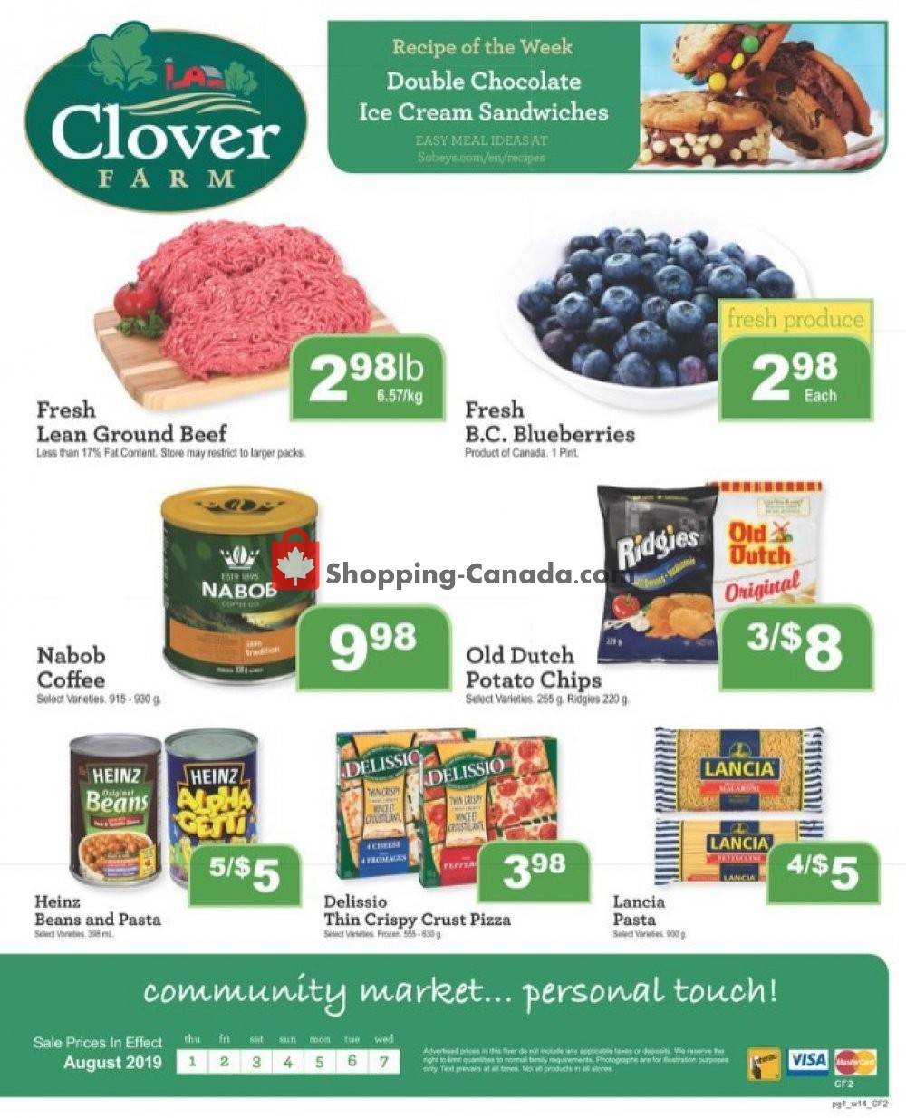 Flyer Clover Farm Canada - from Thursday August 1, 2019 to Wednesday August 7, 2019