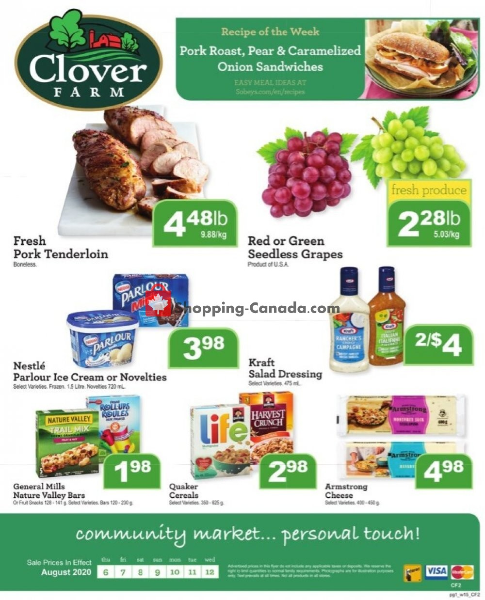 Flyer Clover Farm Canada - from Thursday August 6, 2020 to Wednesday August 12, 2020