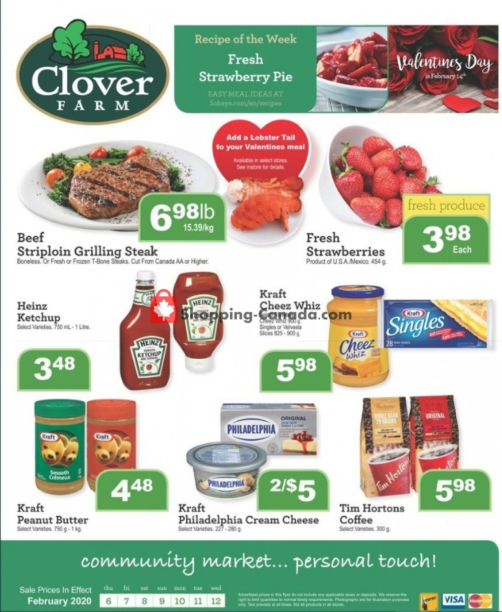 Flyer Clover Farm Canada - from Thursday February 6, 2020 to Wednesday February 12, 2020