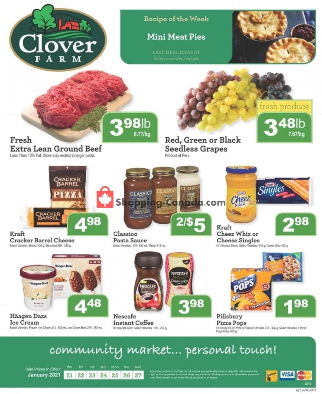Flyer Clover Farm Canada - from Thursday January 21, 2021 to Wednesday January 27, 2021