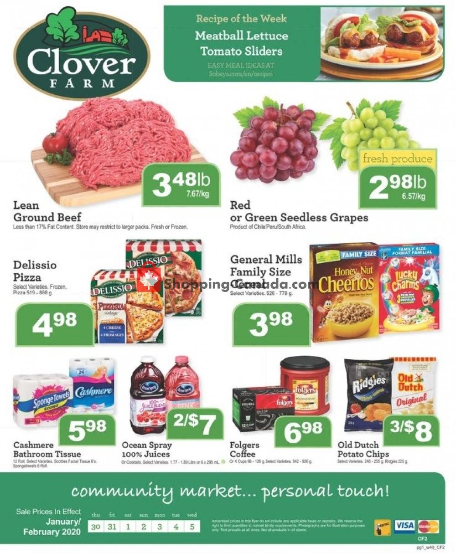 Flyer Clover Farm Canada - from Thursday January 30, 2020 to Wednesday February 5, 2020