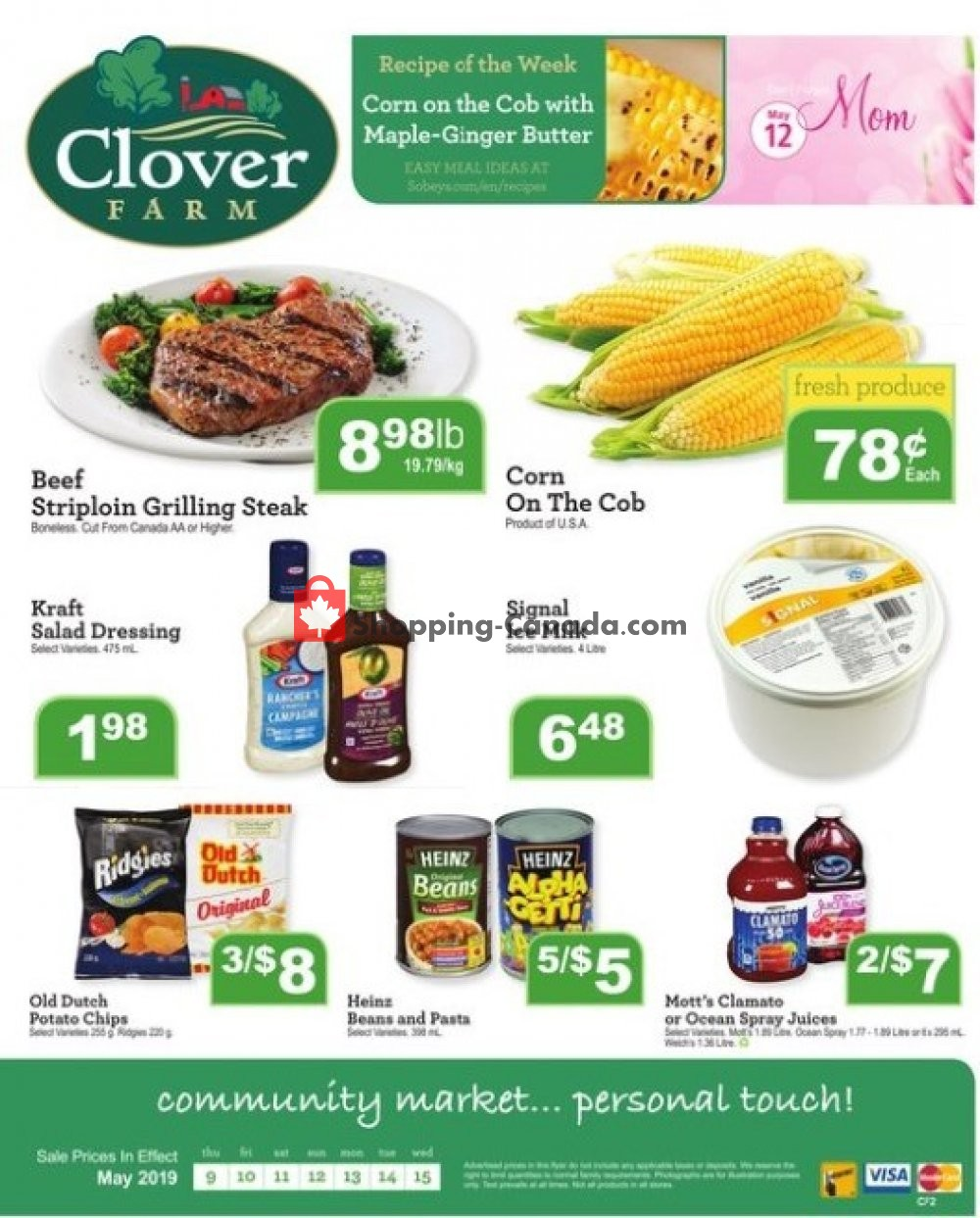 Flyer Clover Farm Canada - from Thursday May 9, 2019 to Wednesday May 15, 2019
