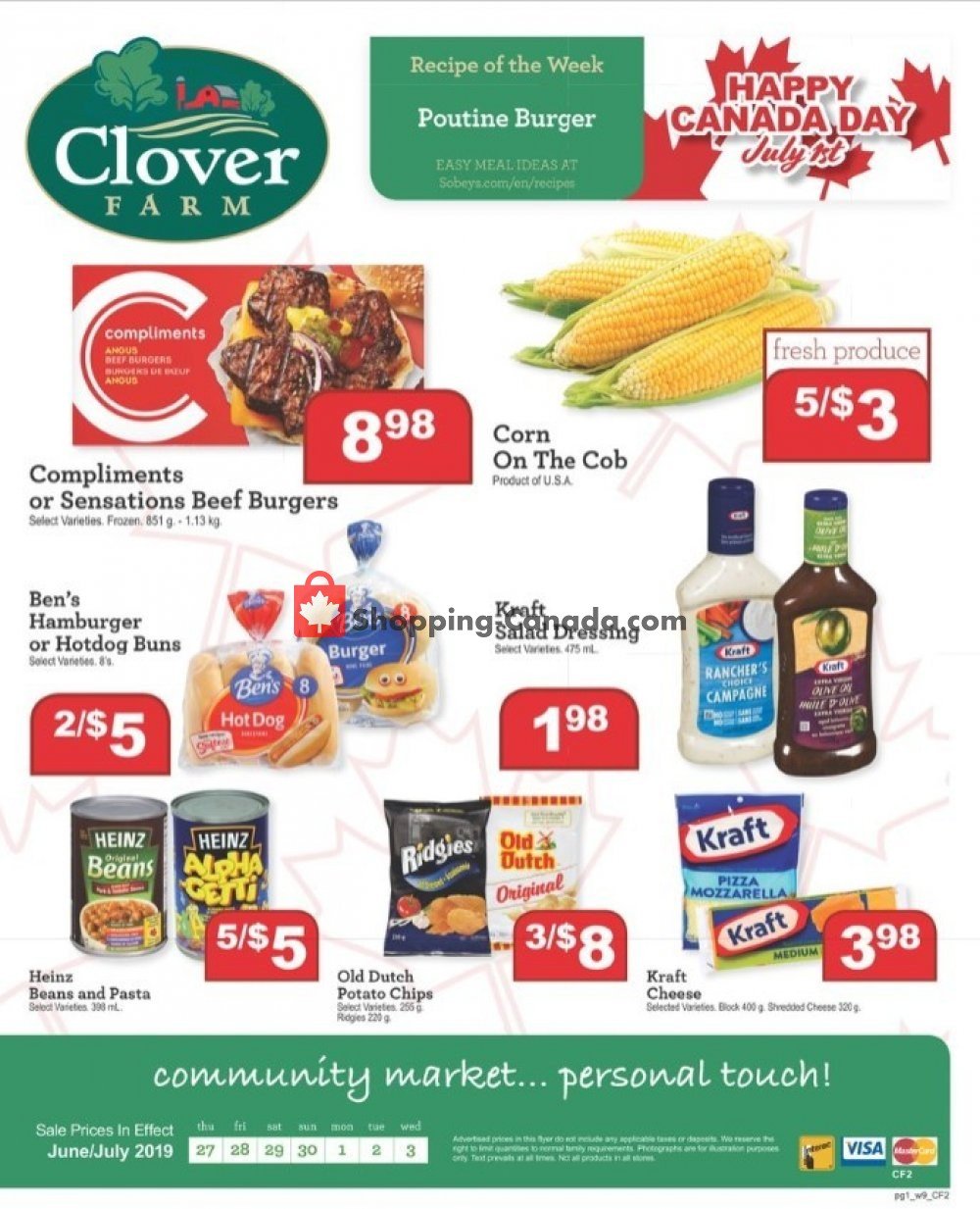 Flyer Clover Farm Canada - from Thursday June 27, 2019 to Wednesday July 3, 2019