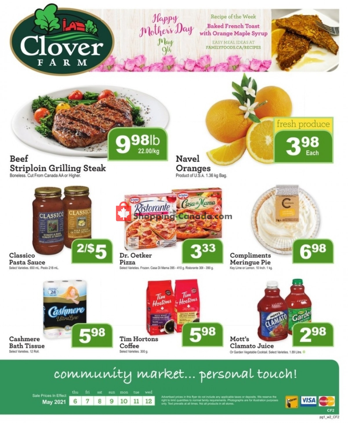 Flyer Clover Farm Canada - from Thursday May 6, 2021 to Wednesday May 12, 2021