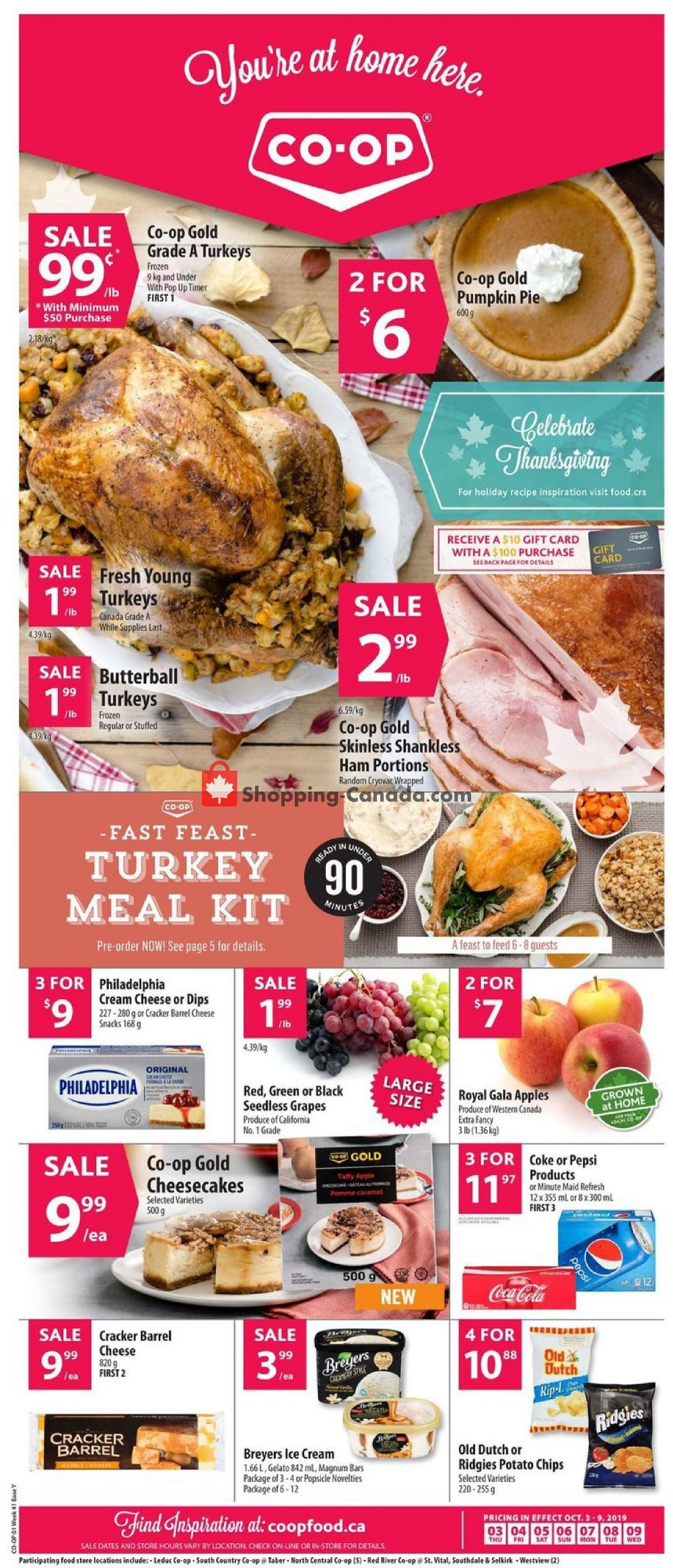 Flyer Co-op Canada - from Thursday October 3, 2019 to Wednesday October 9, 2019