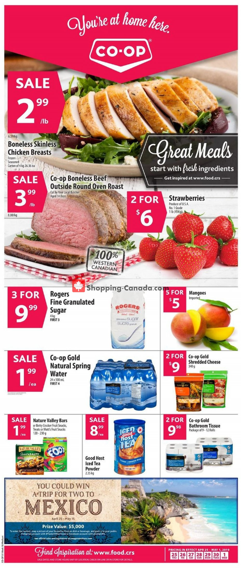 Flyer Co-op Canada - from Thursday April 25, 2019 to Wednesday May 1, 2019