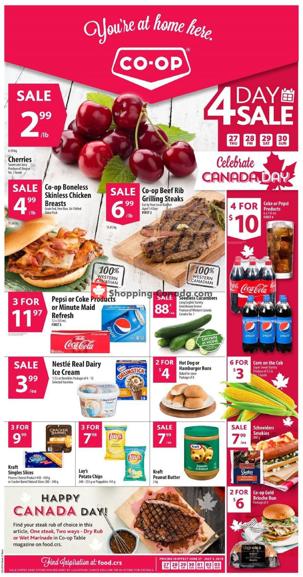 Flyer Co-op Canada - from Thursday June 27, 2019 to Wednesday July 3, 2019
