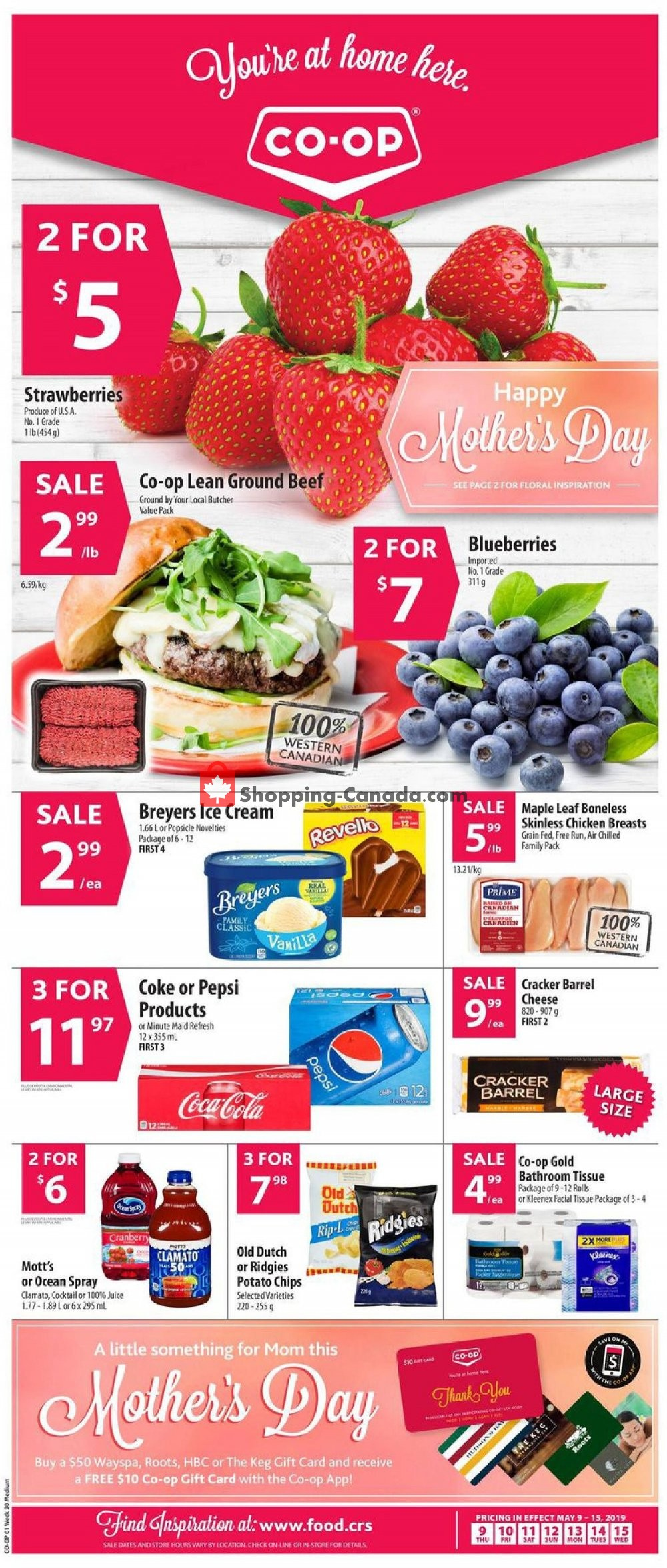Flyer Co-op Canada - from Thursday May 9, 2019 to Wednesday May 15, 2019