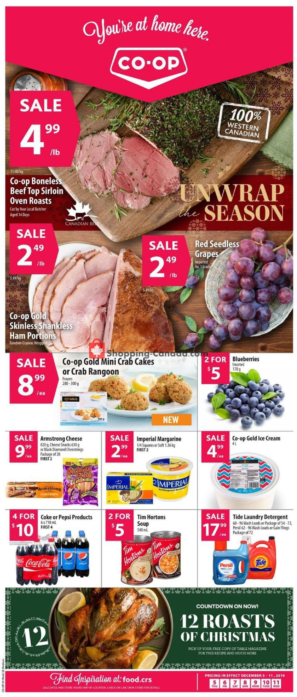 Flyer Co-op Canada - from Thursday December 5, 2019 to Wednesday December 11, 2019