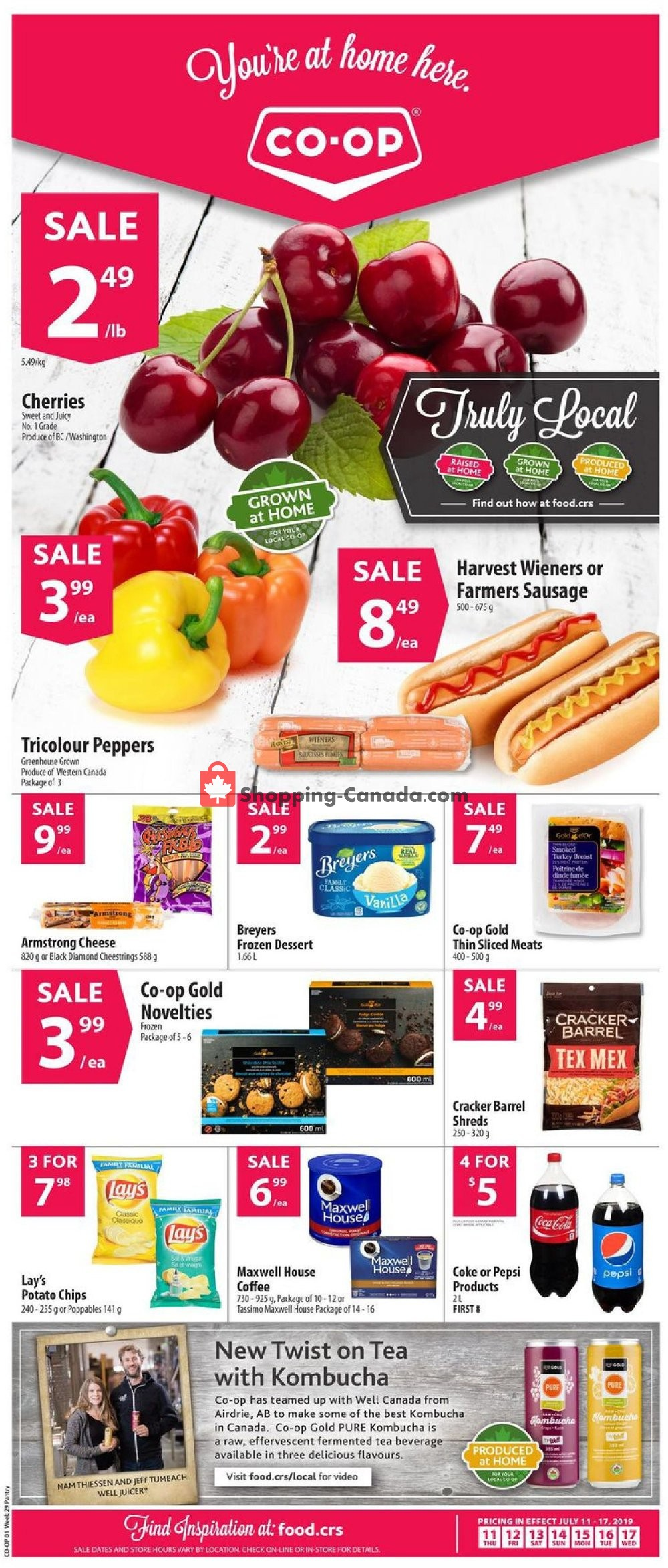 Flyer Co-op Canada - from Thursday July 11, 2019 to Wednesday July 17, 2019
