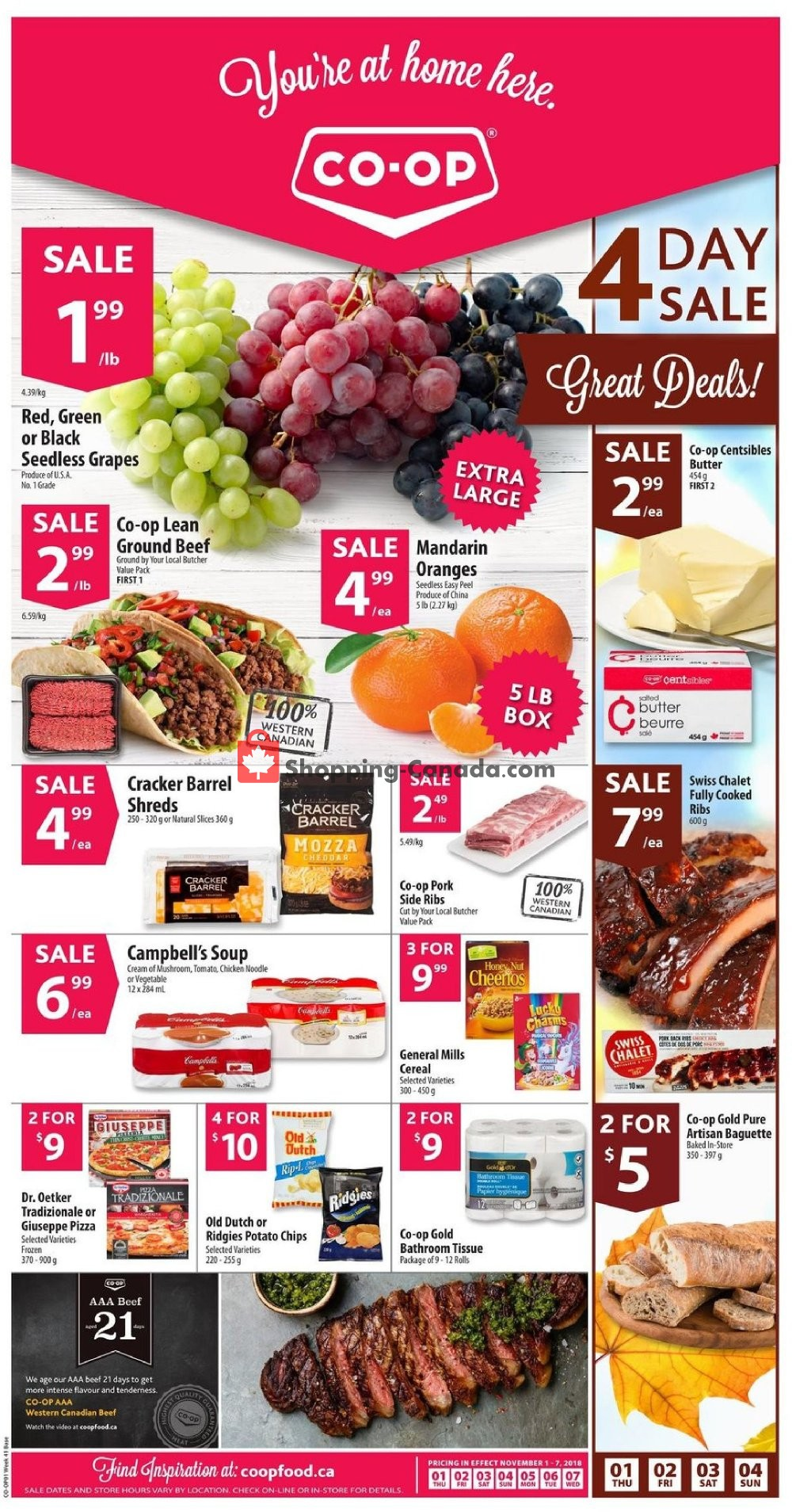 Flyer Co-op Canada - from Thursday November 1, 2018 to Wednesday November 7, 2018