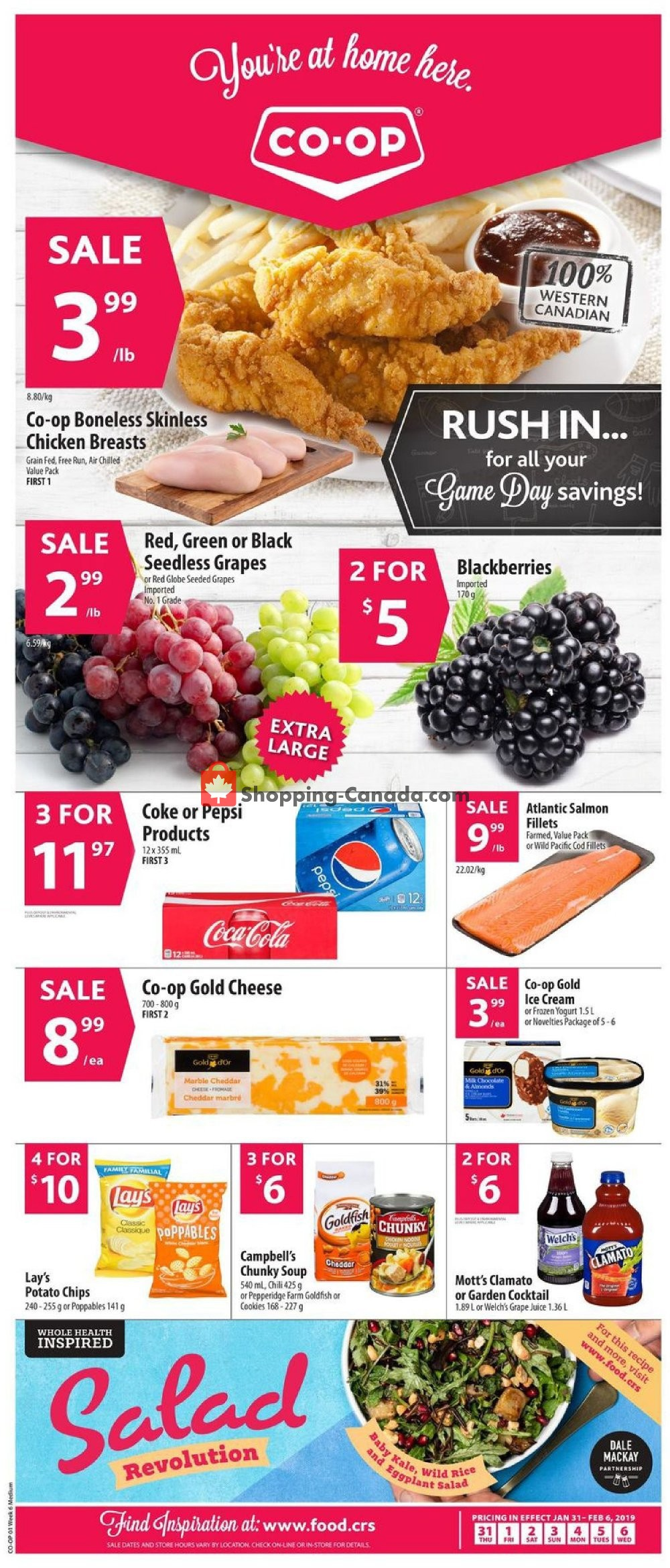Flyer Co-op Canada - from Thursday January 31, 2019 to Wednesday February 6, 2019