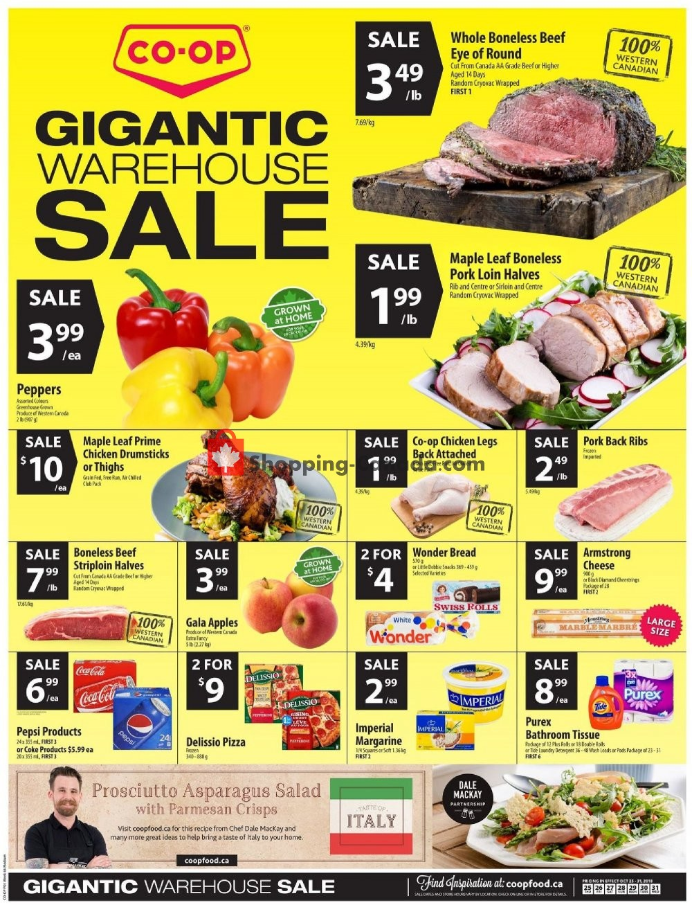 Flyer Co-op Canada - from Thursday October 25, 2018 to Wednesday October 31, 2018