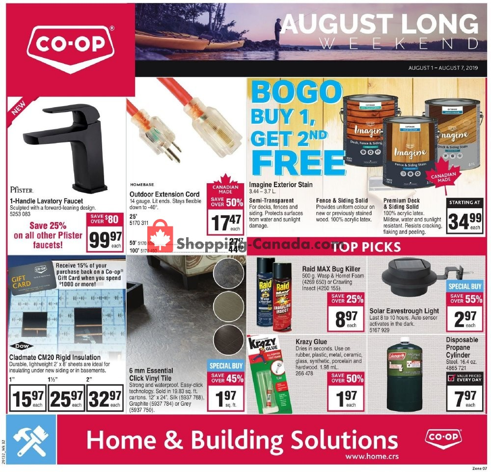 Flyer Co-op Canada - from Thursday August 1, 2019 to Wednesday August 7, 2019