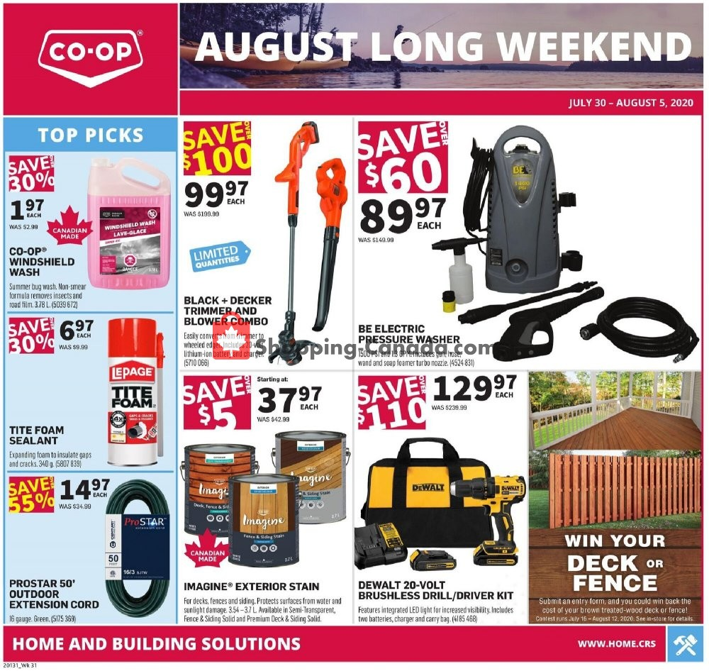 Flyer Co-op Canada - from Thursday July 30, 2020 to Wednesday August 5, 2020