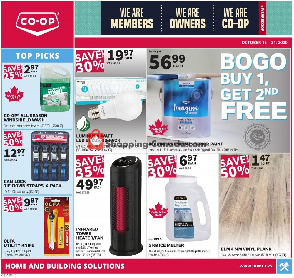 Flyer Co-op Canada - from Thursday October 15, 2020 to Wednesday October 21, 2020