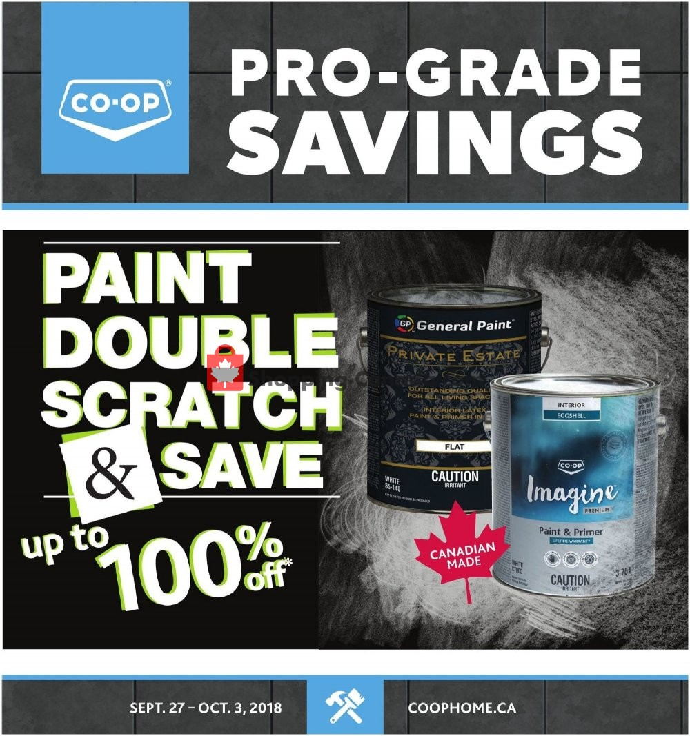 Flyer Co-op Canada - from Thursday September 27, 2018 to Tuesday October 2, 2018