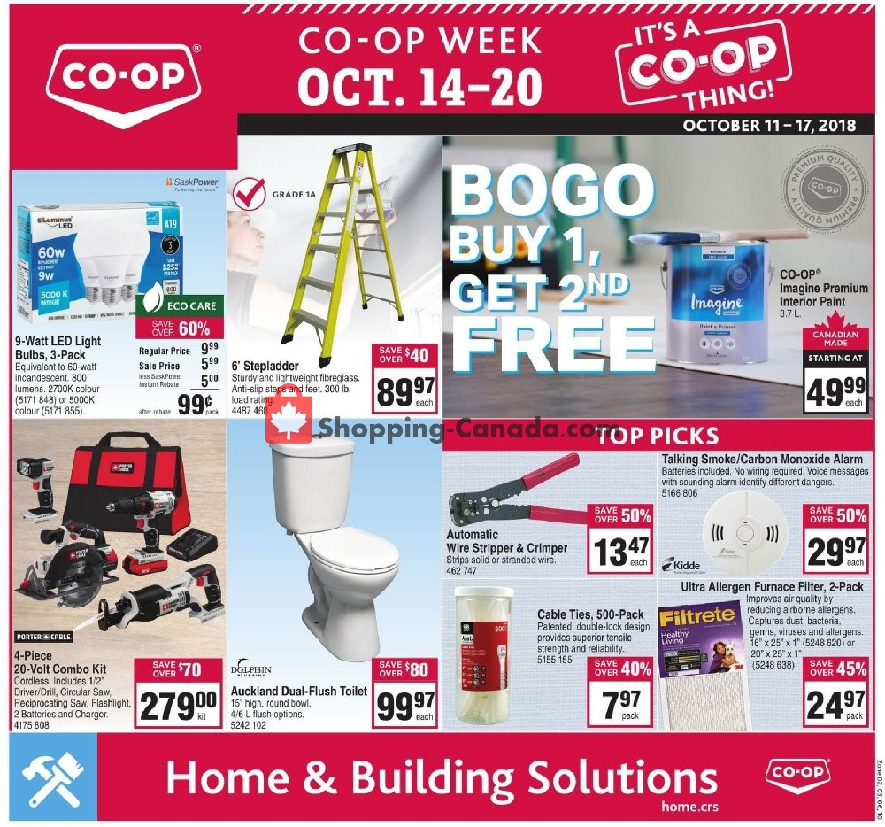 Flyer Co-op Canada - from Thursday October 11, 2018 to Wednesday October 17, 2018
