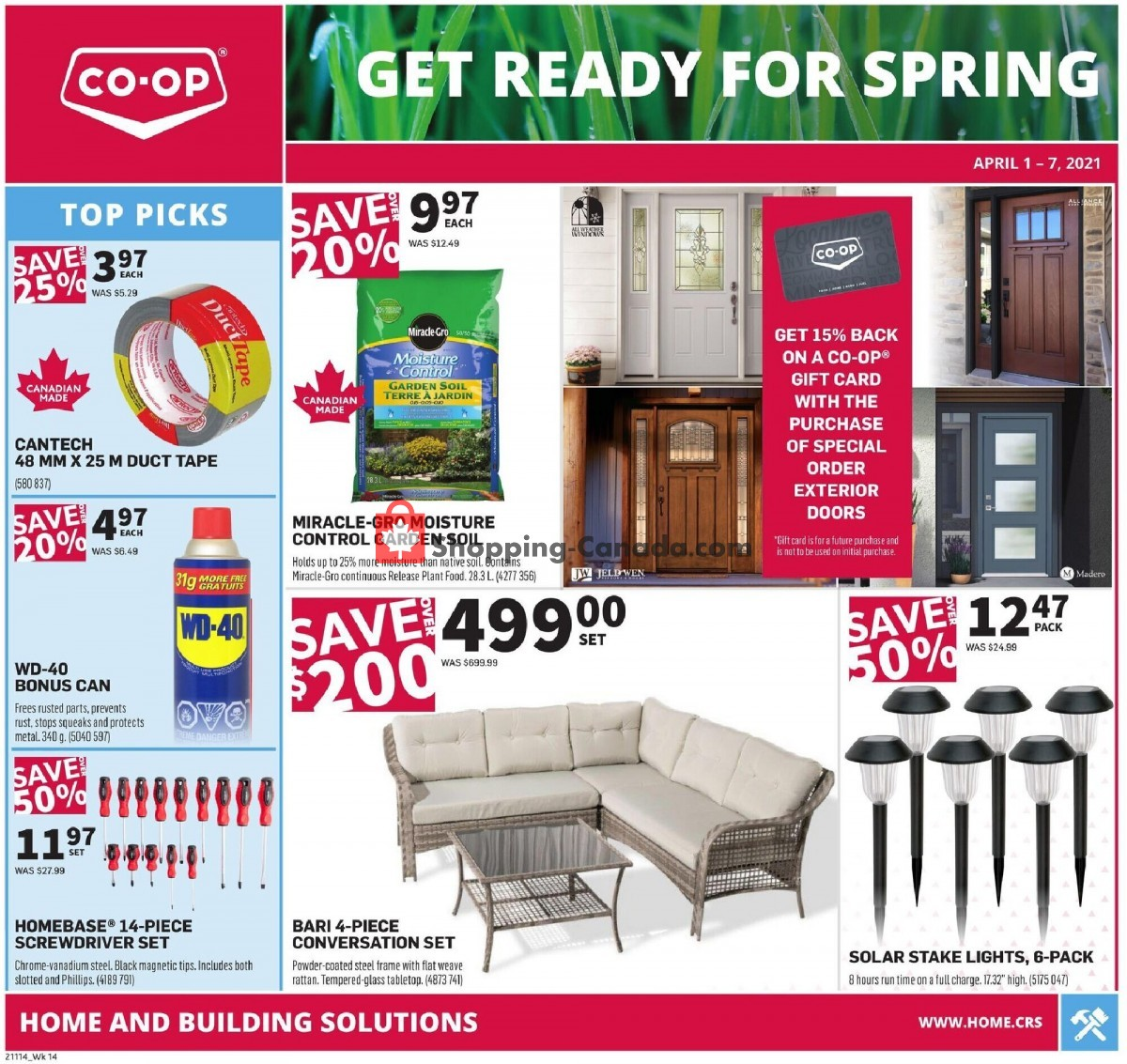 Flyer Co-op Canada - from Thursday April 1, 2021 to Wednesday April 7, 2021