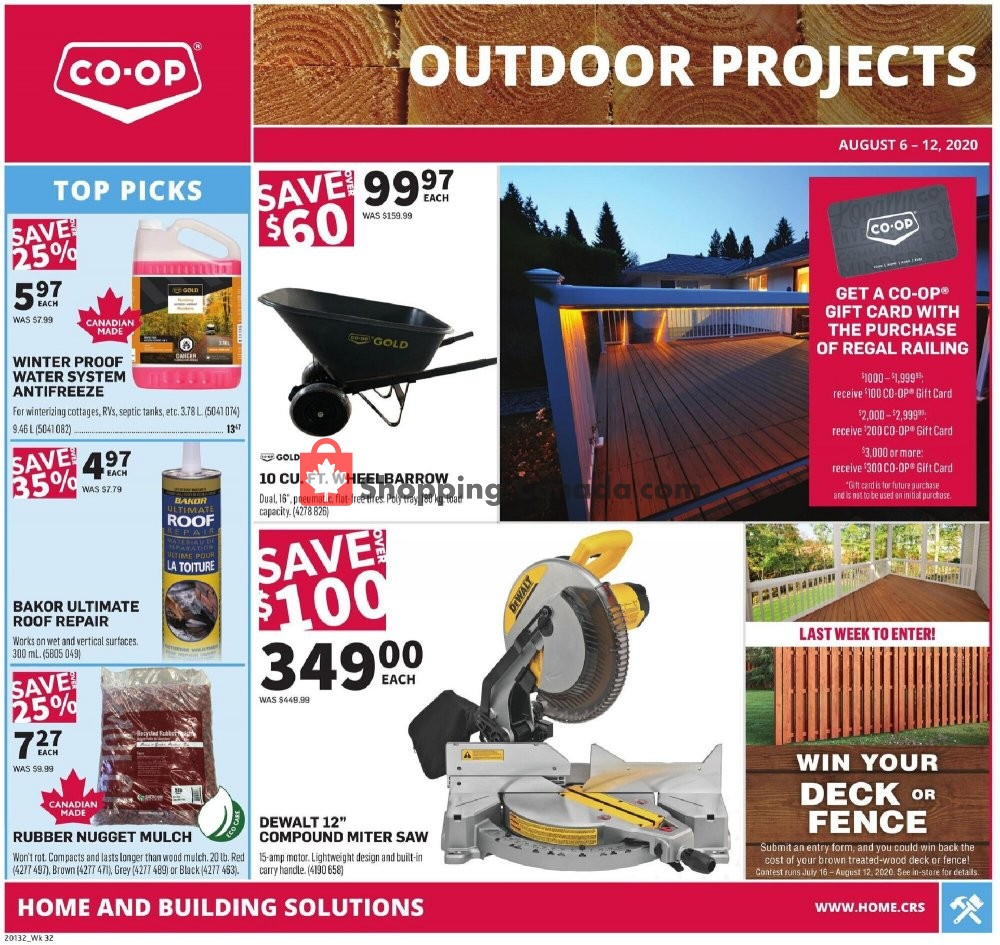 Flyer Co-op Canada - from Thursday August 6, 2020 to Wednesday August 12, 2020
