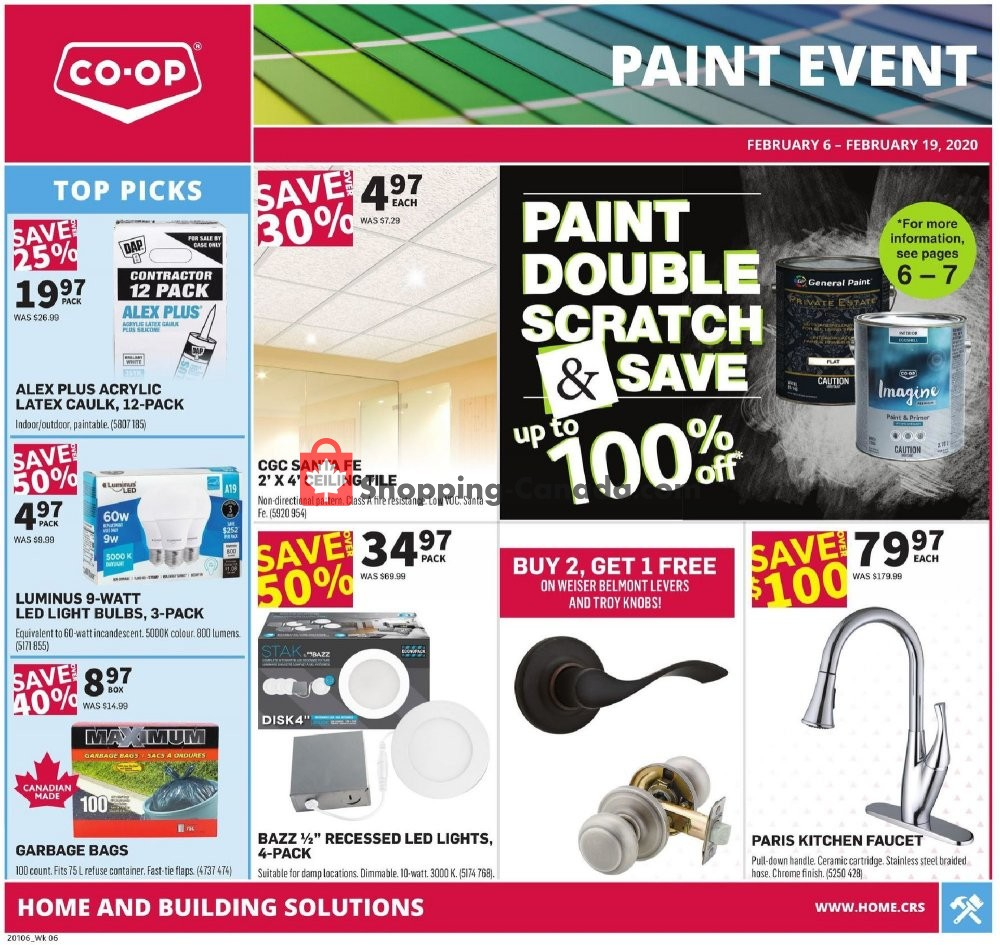 Flyer Co-op Canada - from Thursday February 6, 2020 to Wednesday February 19, 2020