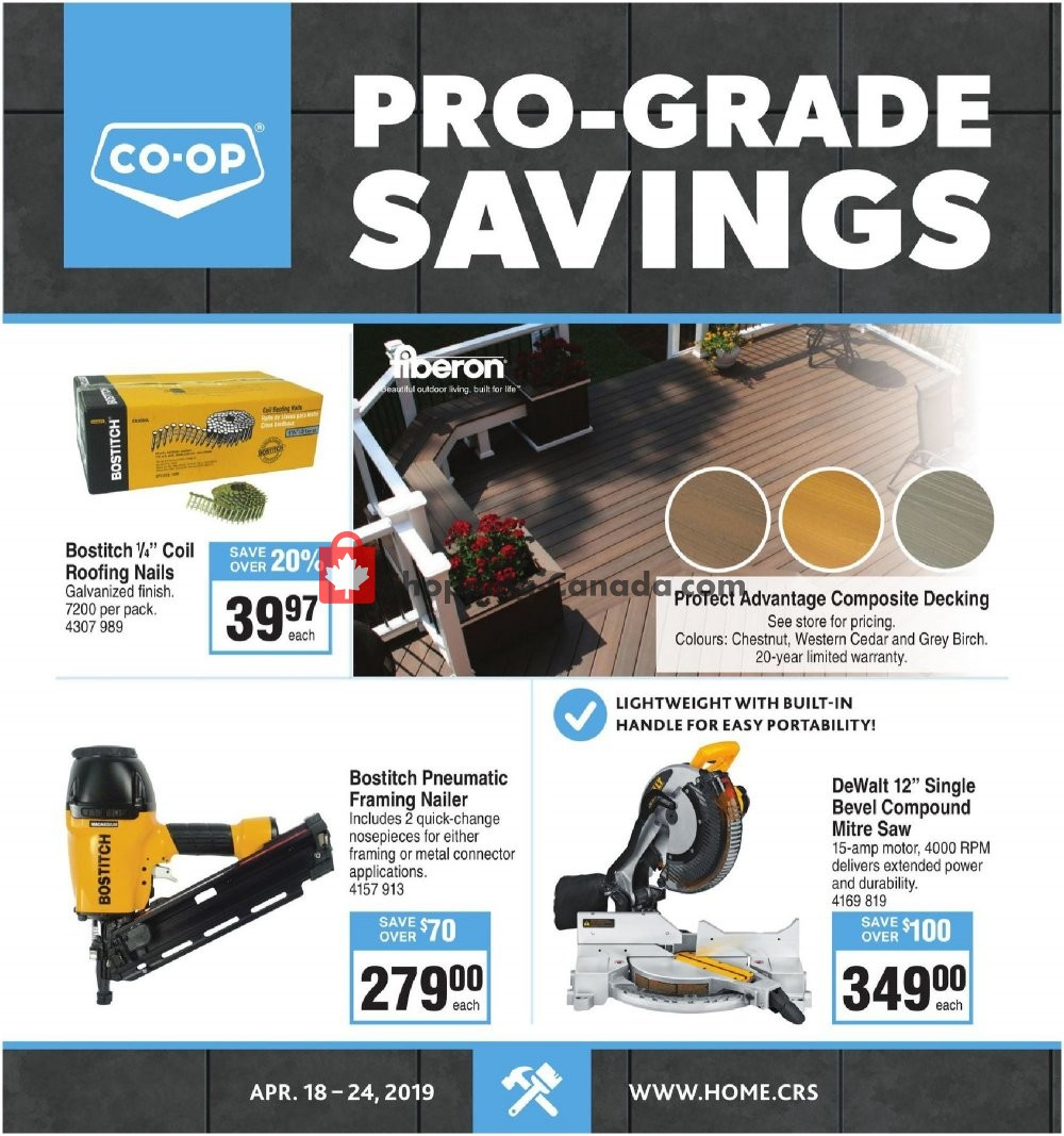 Flyer Co-op Canada - from Thursday April 18, 2019 to Wednesday April 24, 2019