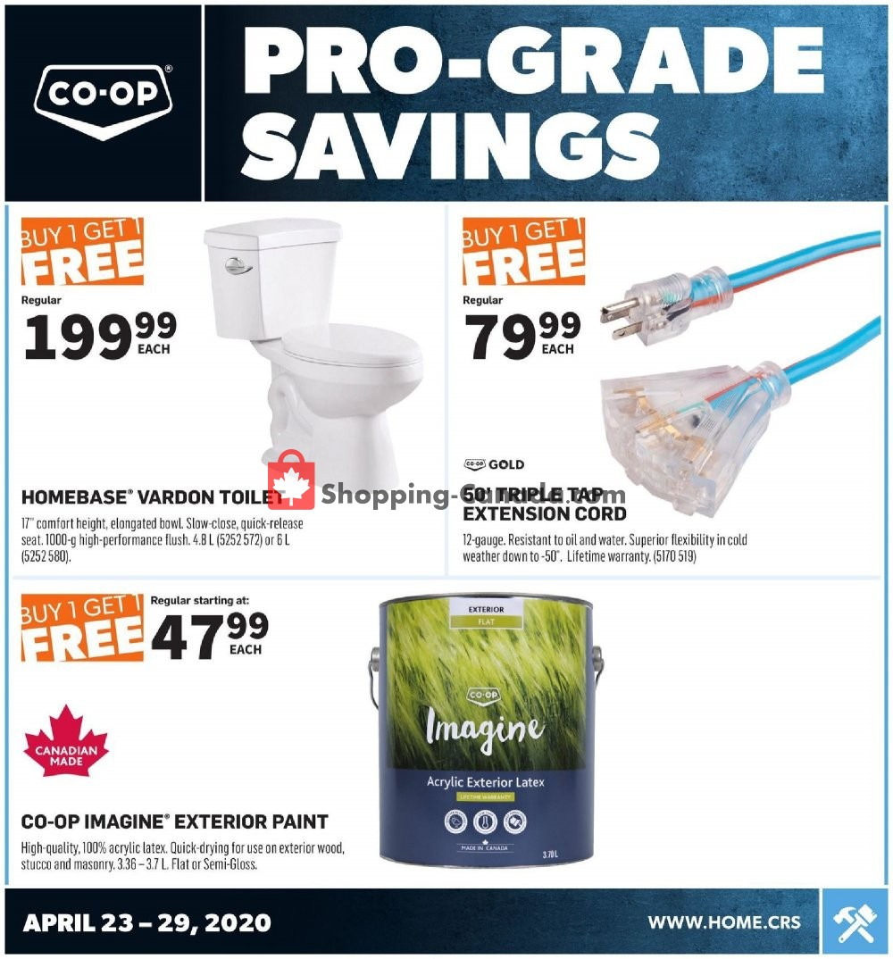 Flyer Co-op Canada - from Thursday April 23, 2020 to Wednesday April 29, 2020