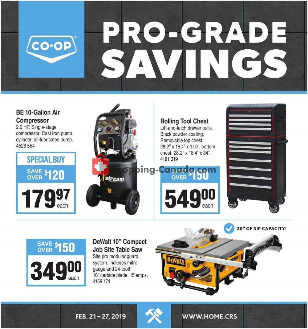 Flyer Co-op Canada - from Thursday February 21, 2019 to Wednesday February 27, 2019